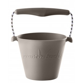 Scrunch-bucket licht grijs