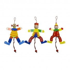 Trekpop clown set van 3