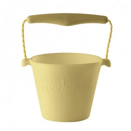 Scrunch-bucket pastel geel